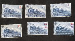 Lot De 5 Colis Postaux Colis Postal Encombrant , CF Scans Pour Détail Et état Des Timbres - Ungebraucht