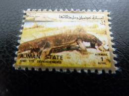 AJMAN - State And Its Dependencies - Airmail - 1 Riyal - Oblitéré - - Ajman