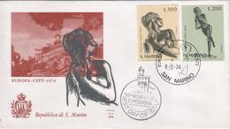 """San Marino 1974 - FDC - """"Europa"""" S. Cpl 2v (rif. 918/19 Cat. Unificato) - FDC"""