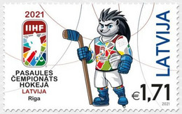 Latvia Lettland Lettonie 2021 (07) Ice Hockey IIHF World Championship - Riga - Hedgehog Spiky - Lettland