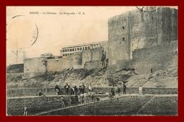 Brest ; Le Chateau La Baignade    (scan Recto Et Verso ) - Brest