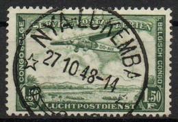 Congo - Nya-Lukemba - Keach Type 8B1 - COB PA9 - Poste Aérienne Avion - 1948 - B14 - Airmail: Used