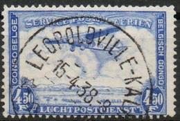 Congo - Leopoldville-kalina - Keach Type 8A1 - COB PA11 - Poste Aérienne Avion - 1938 - B14 - Airmail: Used