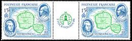 POLYNESIE 1986 - Yv. PA 192A = 192 En Paire **   Cote= 13,00 EUR - Tryptique Expo Stockholmia'87  ..Réf.POL25621 - Nuovi
