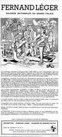 PUB 1971 Exposition Grand Palais Peintre FERNAND LEGER - Pubblicitari
