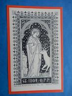 IMAGE PIEUSE HOLY CARD SAINTE IDDA DE TOGGENBURG COMTESSE BENZIGER EISIEDELN - Santini