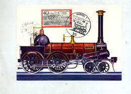 Carte Locomotive Jaxt Cachet Kassel Ligne Wilhelm - Materiale