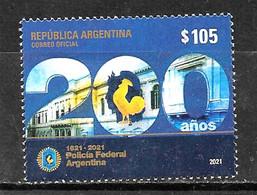#10006 ARGENTINE,ARGENTINA 2021 MILITARIA POLICE BICENTENARY,COAT,MNH,NEUF - Unused Stamps