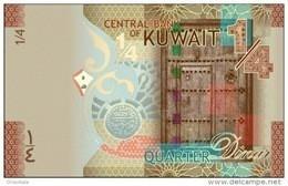 KUWAIT P. 29a 1/4 D 2014 UNC - Kuwait