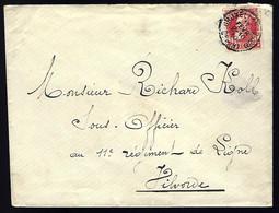 BELGIQUE - BRUXELLE - 1910 - POUR VILVORDE - 1905 Grosse Barbe