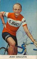 CARTE CYCLISME JEAN GRACZYK TEAM BIC 1967 - Ciclismo