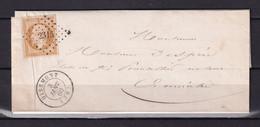 D 185 / NAPOLEON N° 13 SUR LETTRE - 1853-1860 Napoleone III
