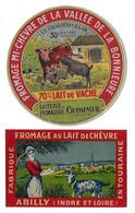 Lot De 2 étiquettes Neuves De FROMAGE  DE  CHEVRE  (recto-verso) - Cheese
