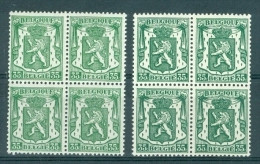 BELGIE - OBP Nr 425 + 425a (blok Van4) - Klein Staatswapen - MNH** - 1935-1949 Piccolo Sigillo Dello Stato