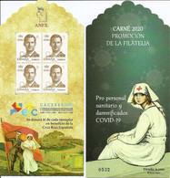 2020-ED. 5441CP Carné De Promoción De La Filatelia - Exfilna- ECC Cácceres 2020. Pro Personal Sanitario Y Damnificados C - 2011-... Unused Stamps
