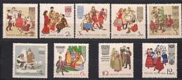 Russie Rusland Russia 1961 Yvertn° 2375-2379A *** MNH Cote 8,50 € Costumes Régionaux Klederdrachten - Ongebruikt