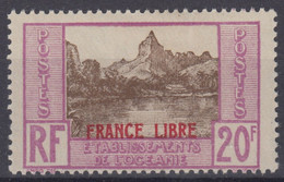 OCEANIE : RARE FRANCE LIBRE N° 143 NEUF * GOMME AVEC CHARNIERE - COTE 150 € - Unused Stamps