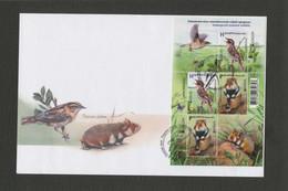 2021 Belarus FDC EUROPE Endangered Species Of Wildlife. Hamster. Bird. Fauna - Unclassified