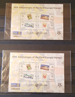 MALTA 50th ANNIVERSARY OF THE  FIRST  EUROPA STAMPS 2 M/SHEETS PERFORED MNH - 2006