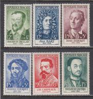 France 1958 - Celebrites, YT 1166/71, Neufs** - Nuevos