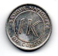 Congo 1 Likuta 1967 TTB - Congo (Democratic Republic 1964-70)