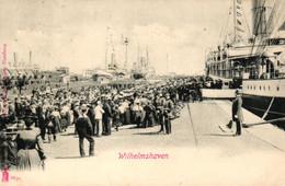 Wilhelmshaven, Schiff, Dampfer, Reisende, 1907 Nach Hannover Versandt - Wilhelmshaven