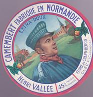 ÉTIQUETTE  DE FROMAGE - HENRI VALLÉE - FERME DU GRAND BÉRON - Cheese