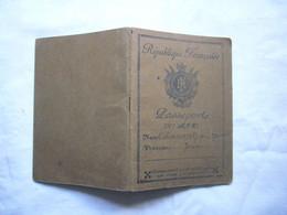 Passeport à L'étranger RF 1942 Abramovitz Jeanne Visas Maroc Algérie - Non Classificati