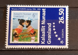 GRONLAND 50th ANNIVERSARY OF THE  FIRST  EUROPA STAMP / STAMP INDIVIDUAL PERFORED MNH - 2006