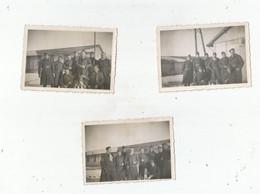 PRIX LES MEZIERES (ARDENNES) ENSEMBLE DE 3 PHOTOS AVEC MILITAIRES  FRANCAIS GUERRE 1939 1945 - Guerra, Militares