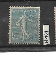 Lot Semeuse Lignée N 161  Neuf ** 50c Bleu , Centrage Parfait Côte 90€ - Nuovi