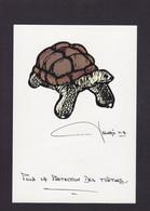 CPM Tortue Turtle Satirique Politique Tirage Limité Numéroté Signé Par JIHEL Non Circulé Voir Dos Dessin Original - Turtles