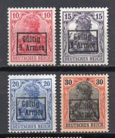- ROUMANIE / Timbres De La 9e Armée N° 3 à 6 Neufs ** (signés) - Série Germania 1918 - Cote 60,00 € - - Foreign Occupations