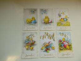 Beau Lot De 20 Cartes Postales De Fantaisie  Pâques    Mooi Lot Van 20 Postkaarten Fantasie  Pasen  - 20 Scans - 5 - 99 Postkaarten