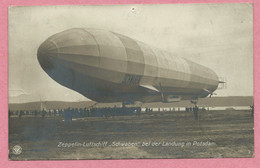 """Allemagne - POTSDAM - Zeppelin Luftschiff """"SCHWABEN """" Bei Der Landung - Potsdam"""