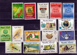 Maroc, Morocco 1990 Année Poste Complète 1080/1095  Neuf ** TB MNH Cote (2014) 21.6 - Maroc (1956-...)