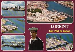 56 LORIENT Son Port De Guerre, Marin. Vue Générale De L'Arsenal Et De La Base Sous-marine, Bateaux, Multivues - Lorient