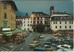 Ponte Di Legno (Brescia) Piazza XXVII Settembre, Pensione Sandrini E Auto D'Epoca, Notturno, Old Cars By Night - Brescia