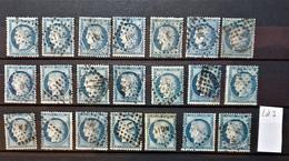 05 - 21 - France - 25c Cérès - N°60 X 21  - Tous Beaux - Oblitérations Ambulant - Lot 3 - 1871-1875 Cérès