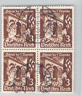MiNr. 598 Viererblock Köln - Used Stamps
