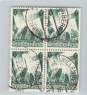 MiNr. 632 Viererblock Willenberg - Used Stamps