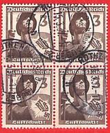 MiNr. 643 Viererblock - Used Stamps