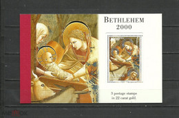 CHEAP Palestine 2000 Painting, Bethlehem, Giotto, Rare Booklet With Gold Embossed 22 Carat LUXURY - America (Other)
