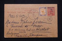 SOUDAN - Entier Postal + Complément De Port Soudan Pour La Belgique En 1922 - L 98419 - Soedan (...-1951)