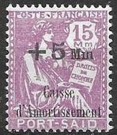 Port Said 1929 4 Euros Mlh * - Unused Stamps