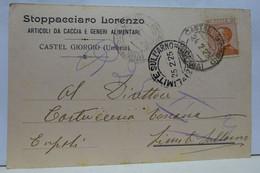 CASTEL GIORGIO  -- PERUGIA --   STOPPACCIARO  LORENZO  -- ARTICOLI CACCIA E ALIMENTARI - Perugia