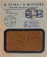 POLOGNE 1927 LETTRE RECOMMANDEE DE VARSOVIE AVEC CACHET ARRIVEE ST-GALL - Covers & Documents