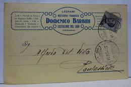 CASTIGLIONE DEL LAGO   -- PERUGIA --  DOMENICO BARBINI  -- LEGNAMI - MESTICHERIA - Perugia