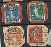 Solgen 57655 Solgne - Utilisation Cachet Allemand En Fevrier 1919 Encore - Wars