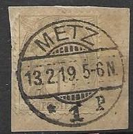 Metz - Utilisation Cachet Allemand En Fevrier 1919 Encore - Wars